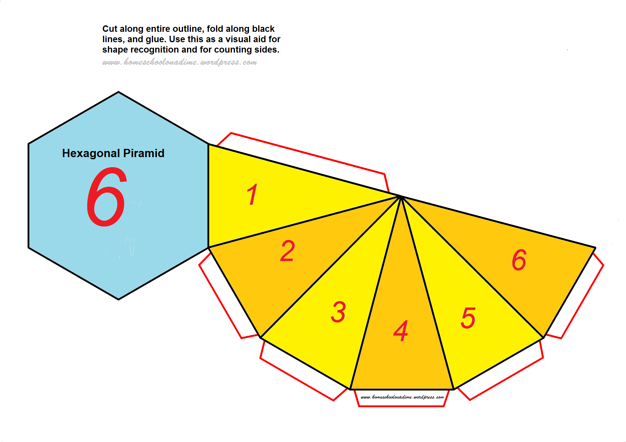 Counting the sides of complex shapes free hexagonal Make your own 3d shapes online